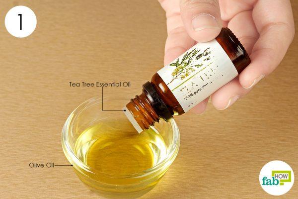 add tea tree oil to olive oil