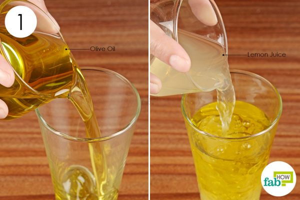 mix lemon juice and olive oil
