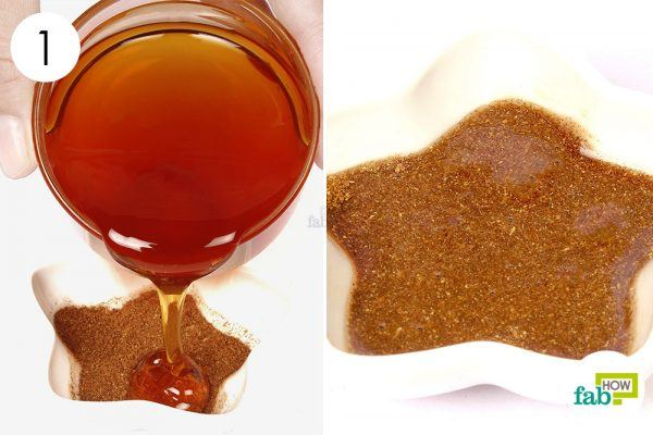 make a paste of honey and cinnamon