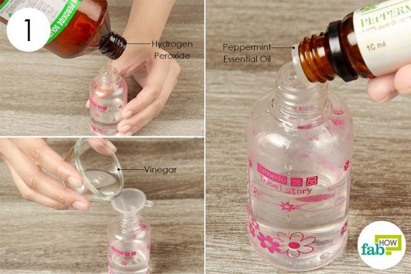 mix hydrogen peroxide vinegar and essential oil