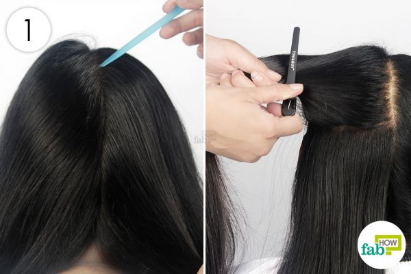 partition your hair into multiple sections