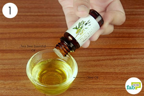 mix tea tree oil and olive oil