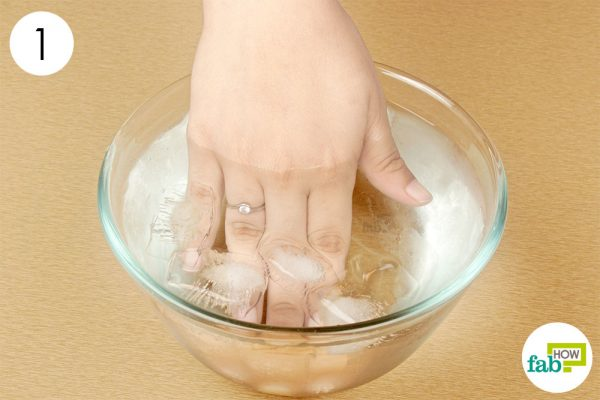 dip your hand in ice cold water