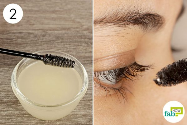 apply on your eyelashes