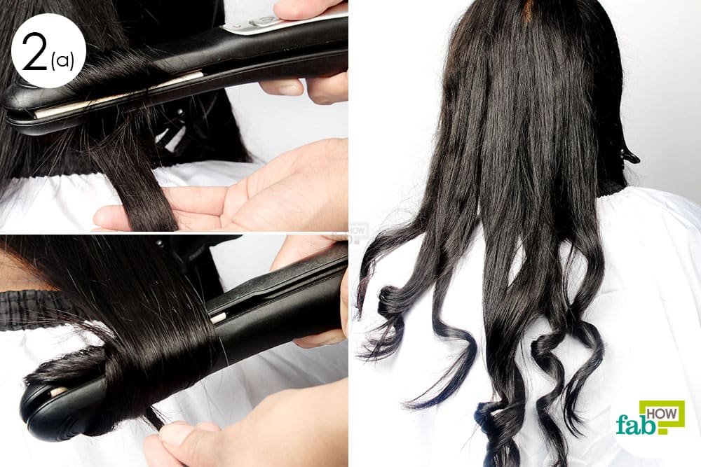 how to get curls with straightener
