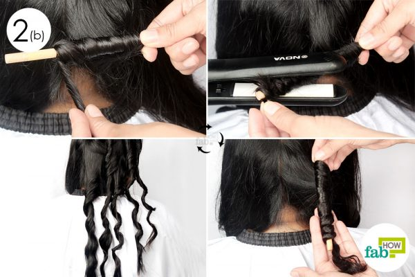 curl hair with pencil technique