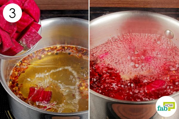 add diced beets and bring to a boil
