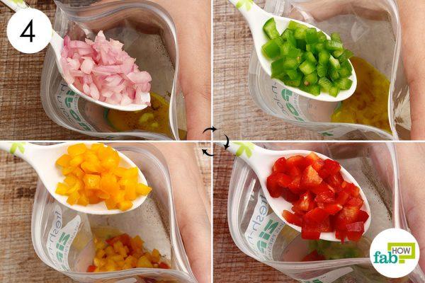 add the chopped veggies