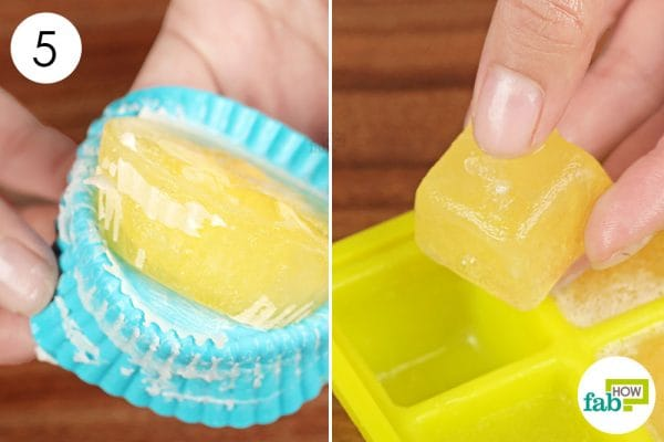 transfer frozen egg to freezer bag