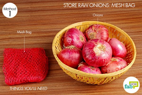 things you'll need to use mesh bags to store onions