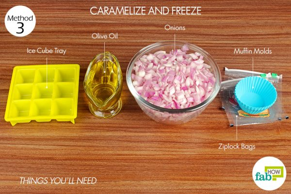 things you'll need to caramelise and store onions