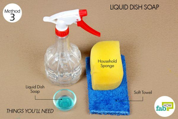 things you'll need to use dish soap to clean chair fabric