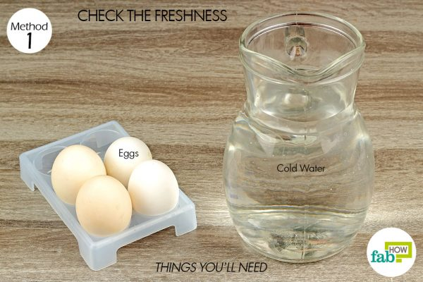 things you'll need to check freshness of eggs