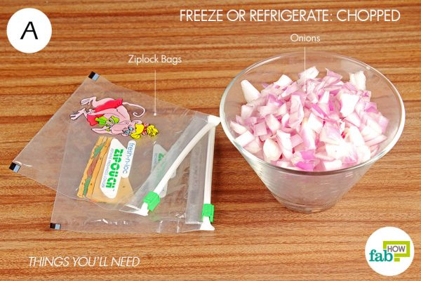 things you'll need to freeze chopped onions