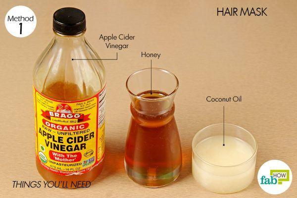 things you'll need to make hair mask using honey