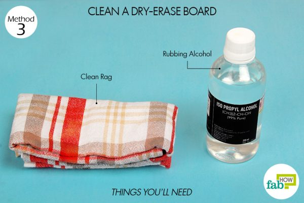 things you'll need to clean dry erase board