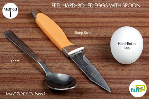 things you'll need to peel boiled egg with spoon