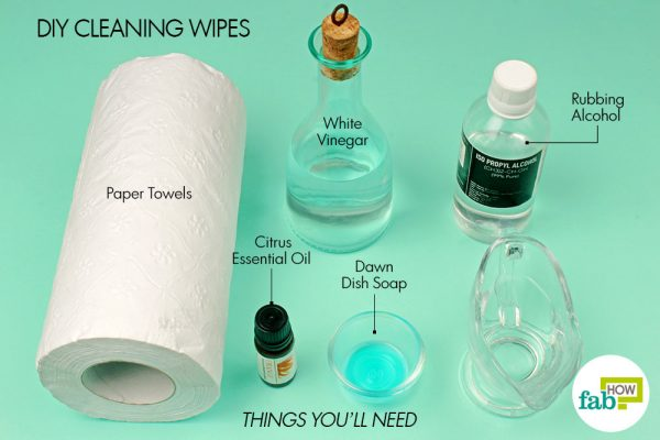 things you'll need to use rubbing alcohol as cleaning wipes