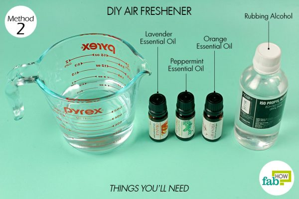 things you'll need to use rubbing alcohol in DIY air freshener