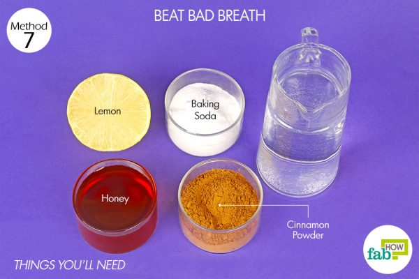 things you'll need to use lemon to beat bad breath