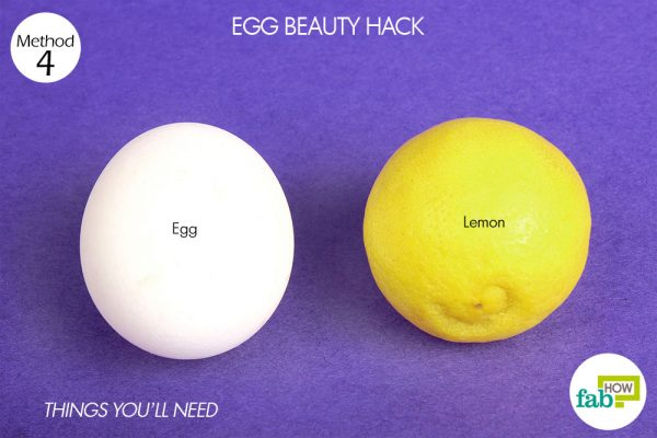 things you'll need to make egg white mask