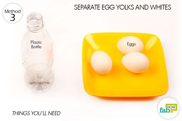 things you'll need to seperate egg yolks and whites