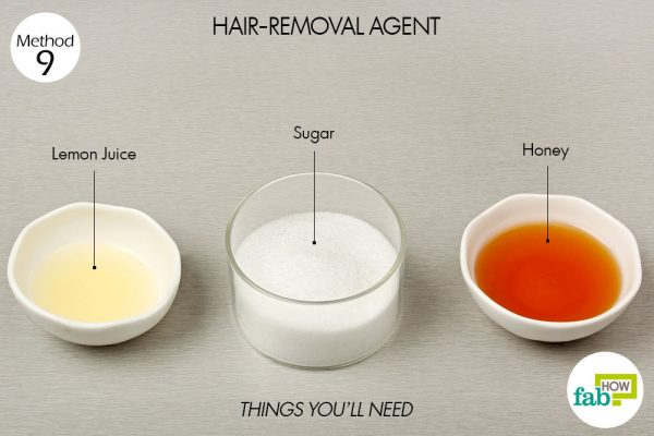 things you'll need to use honey for hair removal