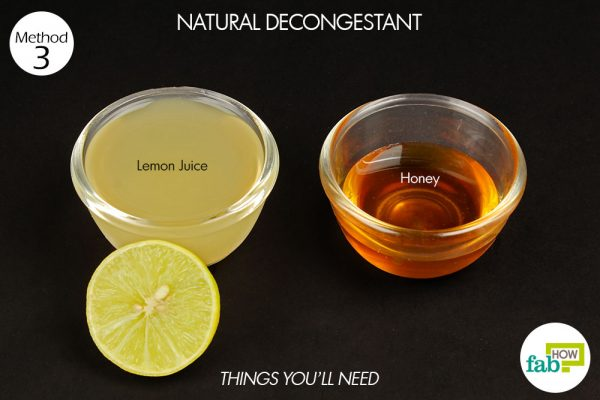 things you'll need to use lemon as natural decongestant