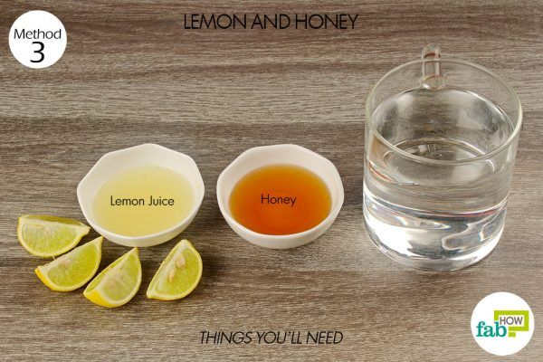 things you'll need for using apple cider lemon and honey to get rid of laryngitis