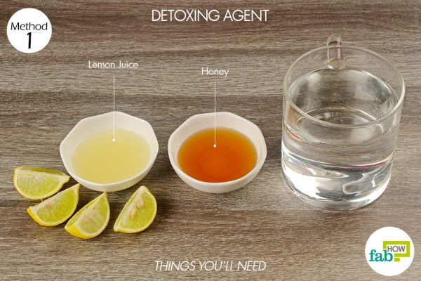 things you'll need to use lemon as detoxing agent