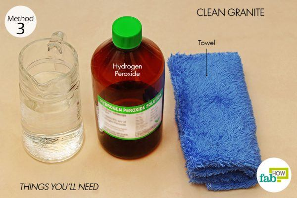 things you'll need to use hydrogen peroxide to clean granite
