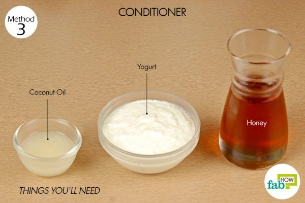 things you'll need to make conditioner using honey