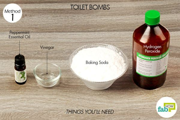 things you'll need to use hydrogen peroxide to make toilet bombs