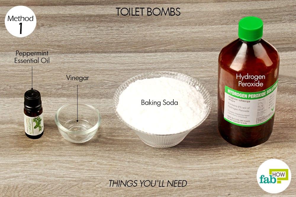 Hydrogen Peroxide Cleaning Agent 2 Tablespoons Vinegar 1 Teaspoon Baking Soda