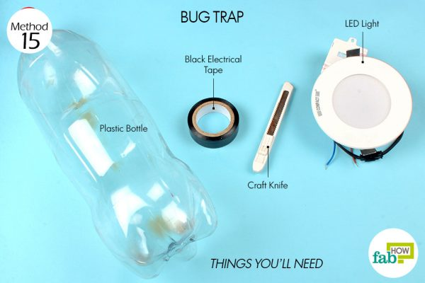 things you'll need to make bug trap made with plastic bottle