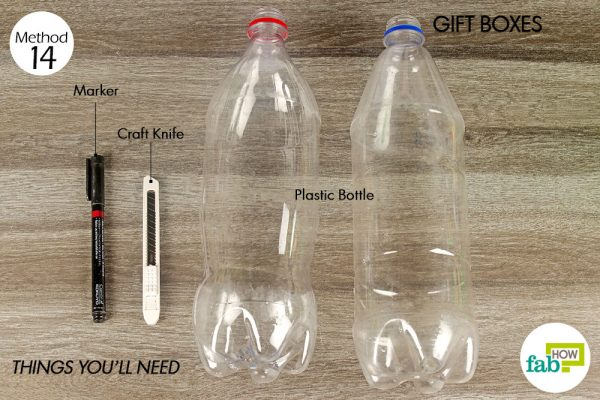 things you'll need to make gift boxes made with plastic bottle
