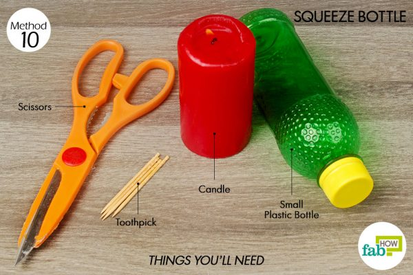 things you'll need to make squeeze bottle made with plastic bottle