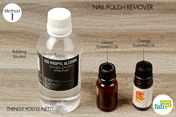 things you'll need for rubbing alcohol health and beauty hacks - nail polish remover