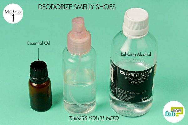 things you'll need to use rubbing alcohol for deodorizing smelly shoes