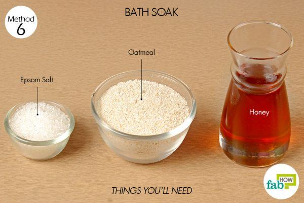 things you'll need to use honey for bath soak