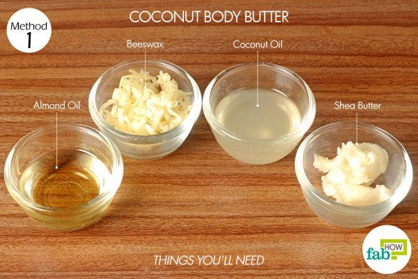 things you'll need to make coconut body butter