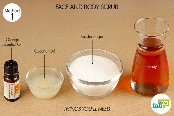 things you'll need to make face and body scrub