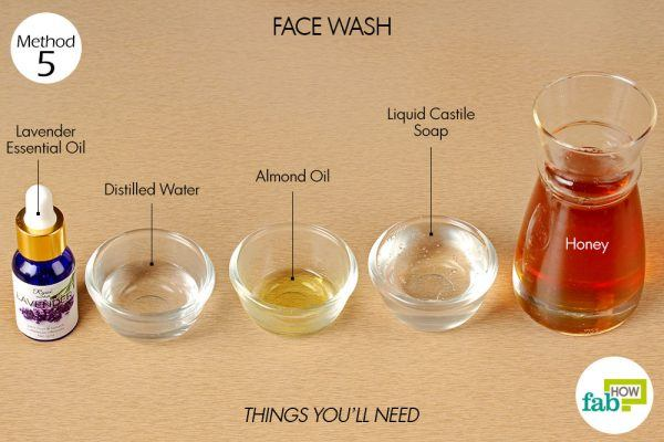 things you'll need to use honey for face wash