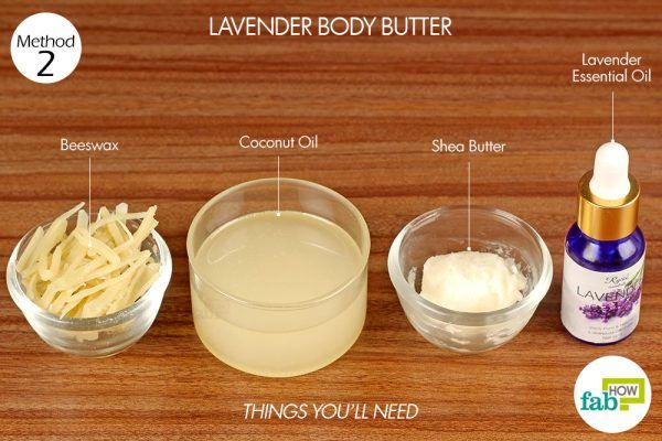 things you'll need to make lavender body butter
