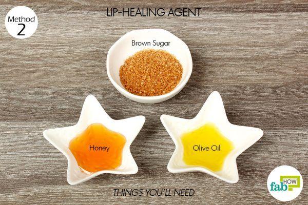 things you'll need to make lip healing agent using honey