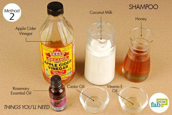 things you'll need to make shampoo using honey