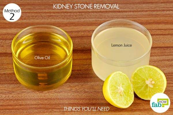things you'll need to use lemon for kidney stone removal