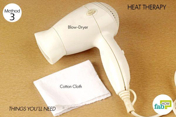 things you'll need to use heat to treat impetigo