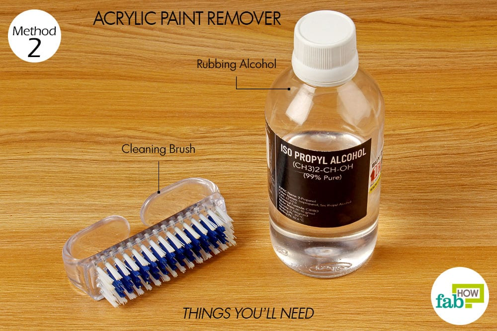 How to use rubbing alcohol for cleaning and stain removal for How to use acrylic paints