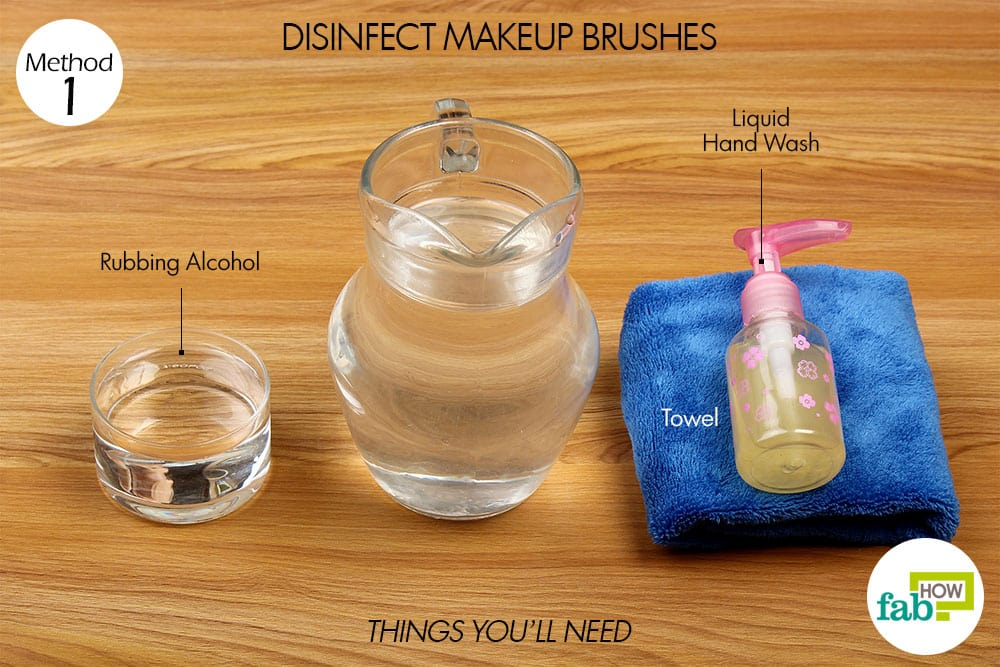 how to clean your makeup brushes with alcohol
